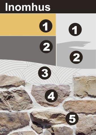 StoneCo - montering av fasadsten inomhus på gips OSB Plywood
